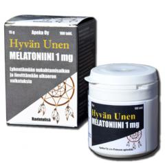 Hyvän unen Melatoniini 1 mg 100 tabl