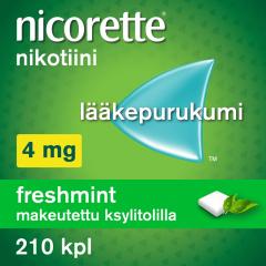 NICORETTE FRESHMINT 4 mg lääkepurukumi 210 fol