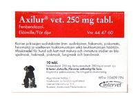 AXILUR 250 mg vet tabl 20 fol